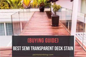 best semi transparent deck stain