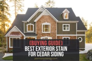 best exterior stain for cedar siding